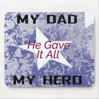Mousepad - mon papa mon héros tapis de souris