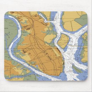 Mousepad nautique de diagramme de port de Sc de Ch Tapis De Souris