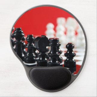 Mousepad noir et blanc de gel de jeu d'échecs tapis de souris avec gel