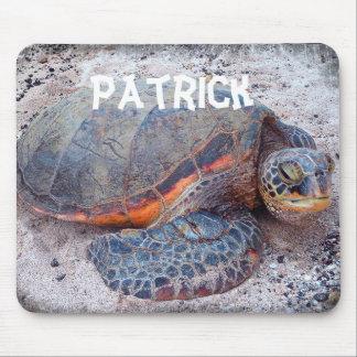 Mousepad nommé personnalisé de photo de tortue de tapis de souris