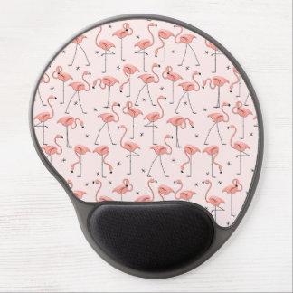 Mousepad rose de gel de flamants tapis de souris gel