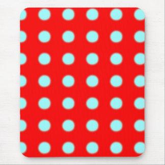 Mousepad rouge et bleu tapis de souris