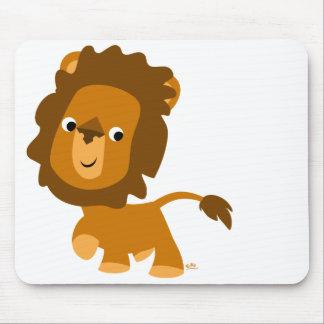 Mousepad satisfait de lion de bande dessinée tapis de souris