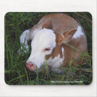 Mousepad somnolent de veau de bébé tapis de souris