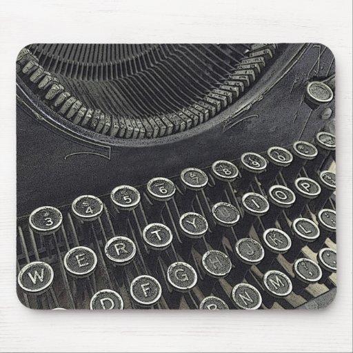 Mousepad vintage de machine à écrire tapis de souris