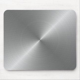 Mousepads avec la texture métallique argentée tapis de souris