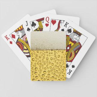 Mousse de bière 2 cartes de jeu cartes à jouer