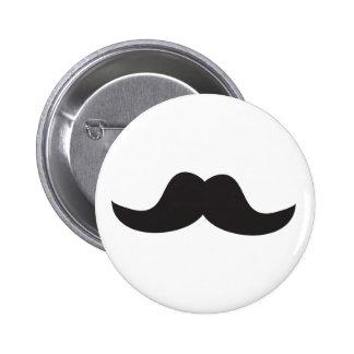 Moustache Badge Rond 5 Cm