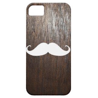 Moustache blanche drôle sur l'arrière - plan en coques Case-Mate iPhone 5