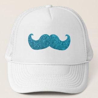 Moustache bleue de Bling (graphique de parties Casquette