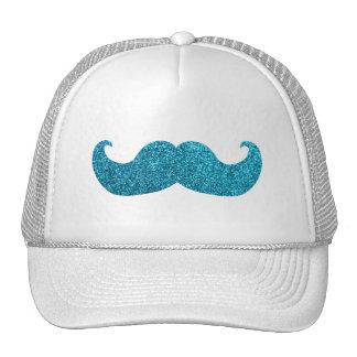 Moustache bleue de Bling (graphique de scintilleme Casquette De Camionneur