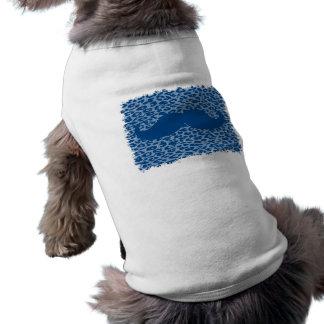 Moustache bleue drôle t-shirt pour chien