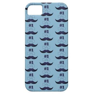 Moustache bleue du papa #1 - numéro un étui iPhone 5