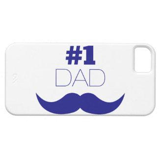 Moustache bleue du papa #1 - numéro un iPhone 5 case