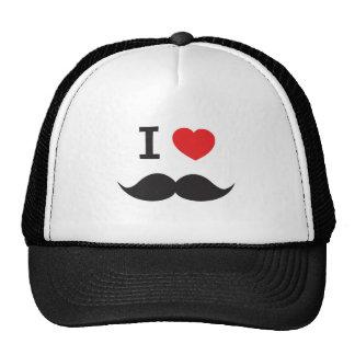 Moustache d'amour casquette trucker