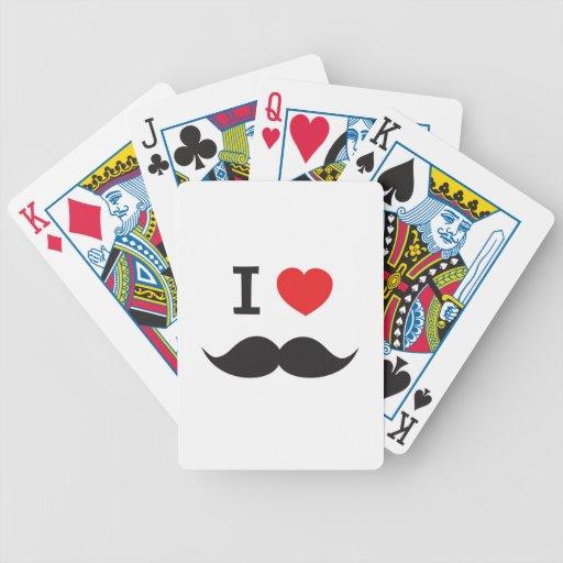 Moustache d'amour jeu de cartes