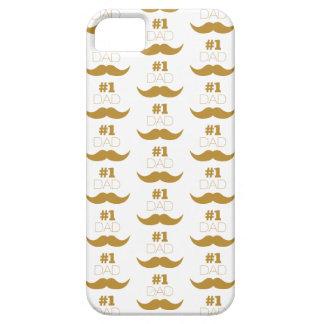 Moustache d'or du papa #1 - numéro un coques iPhone 5 Case-Mate