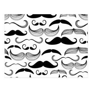 Moustache drôle carte postale