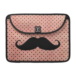 Moustache drôle sur l arrière - plan rose mignon d poche pour macbook pro