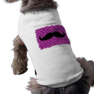 Moustache drôle t-shirt pour chien