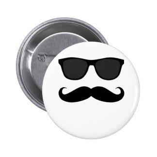 Moustache et cadeau noirs d'humeur de lunettes de  badges