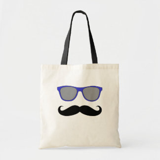 Moustache et humeur bleue de lunettes de soleil sac en toile budget