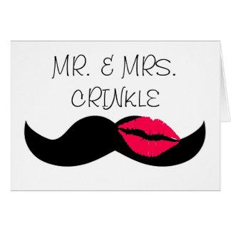moustache et lèvres carte de vœux