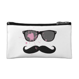 Moustache et lunettes de soleil drôles trousse de maquillage