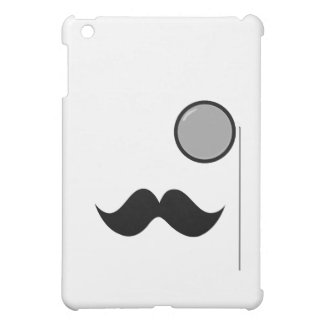 Moustache et monocle de fantaisie coque iPad mini