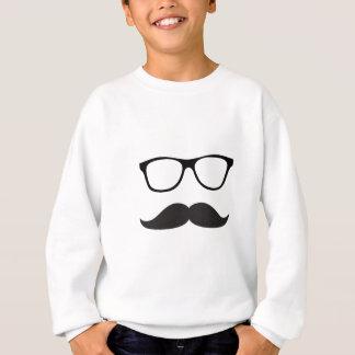 Moustache et verres sweatshirt