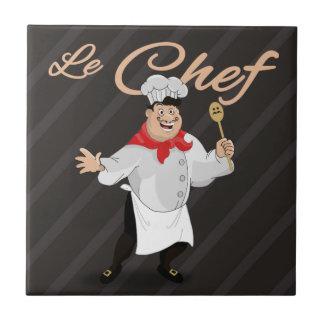 Moustache française d'art de cuisinier de cuisine carreau