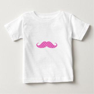 Moustache Girly de pois de roses indien drôles T-shirt Pour Bébé