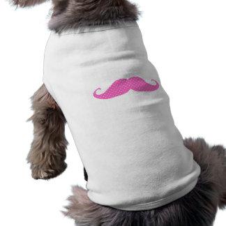 Moustache Girly de pois de roses indien drôles T-shirt Pour Chien