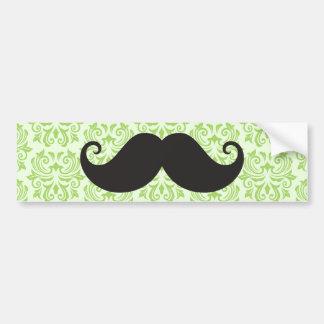 Moustache noire de guidon sur le motif vert de dam autocollant pour voiture