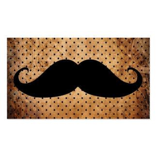 Moustache noire drôle carte de visite standard