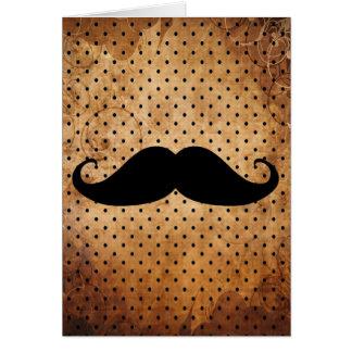Moustache noire drôle cartes de vœux