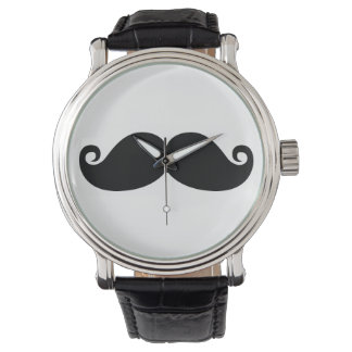 Moustache noire vintage drôle montres bracelet