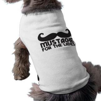 Moustache pour les dames t-shirt pour chien
