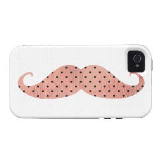 Moustache rose drôle de pois coque iPhone 4 vibe