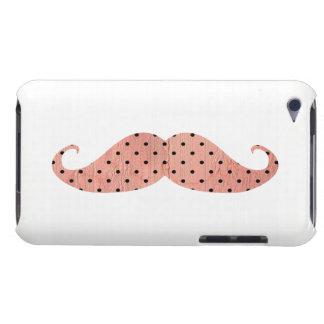 Moustache rose drôle de pois coques iPod touch