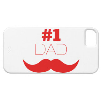 Moustache rouge du papa #1 - numéro un coques Case-Mate iPhone 5