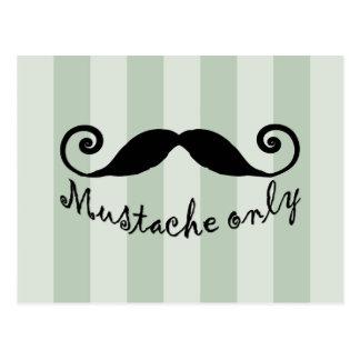 moustache seulement carte postale