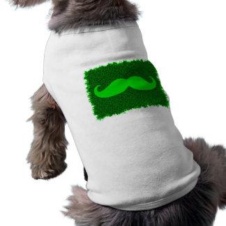 Moustache verte drôle t-shirt pour chien
