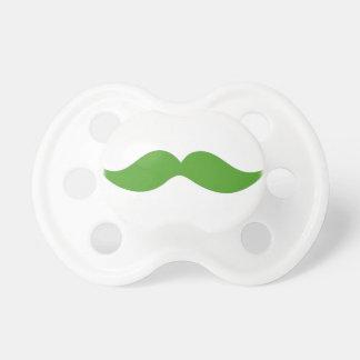 Moustache verte sucette pour bébé