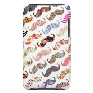 Moustaches colorées Girly drôles de motifs Étui Barely There iPod