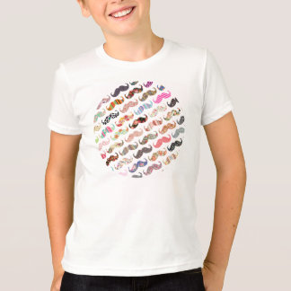 Moustaches colorées Girly drôles de motifs T-shirt