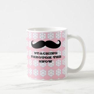 Moustaches drôles de Noël de vacances de moustache Mug