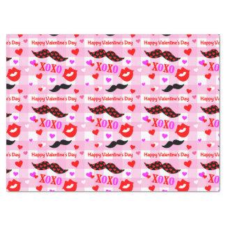 Moustaches et lèvres de Saint-Valentin Papier Mousseline