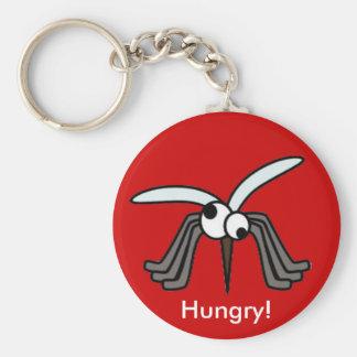 Moustiques - affamés ! porte-clé rond