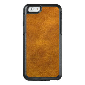 Moutarde d'ambre de grain fin de cuir de peau de coque OtterBox iPhone 6/6s